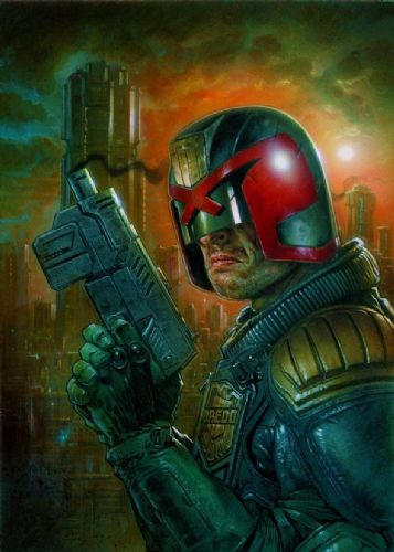 2000AD - JUDGE DREDD - DREDD canvas print - self adhesive poster - photo print